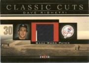 2002 Fleer Classic Cuts Game Used #DRP Dave Righetti Patch