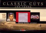 2002 Fleer Classic Cuts Game Used #JTJ Joe Torre Jsy/125