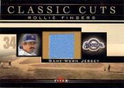 2002 Fleer Classic Cuts Game Used #RFJ Rollie Fingers Jsy