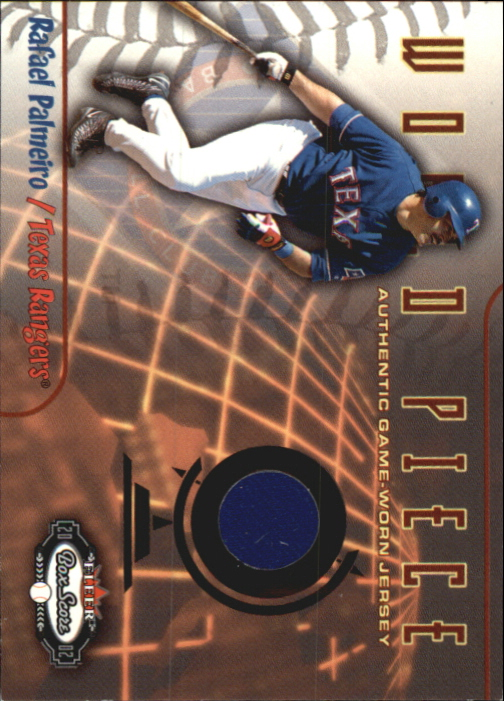 2002 Fleer Box Score World Piece Game Used #8 Rafael Palmeiro Jsy