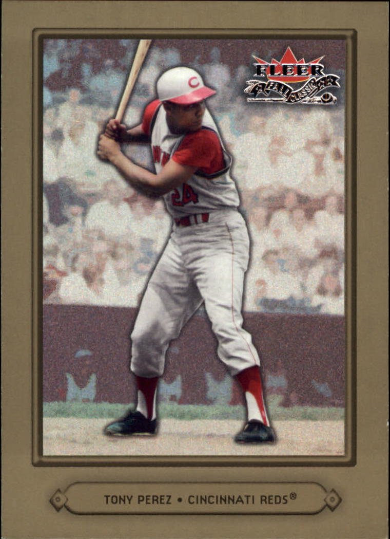 2002 Fleer Fall Classics #24A Tony Perez Reds