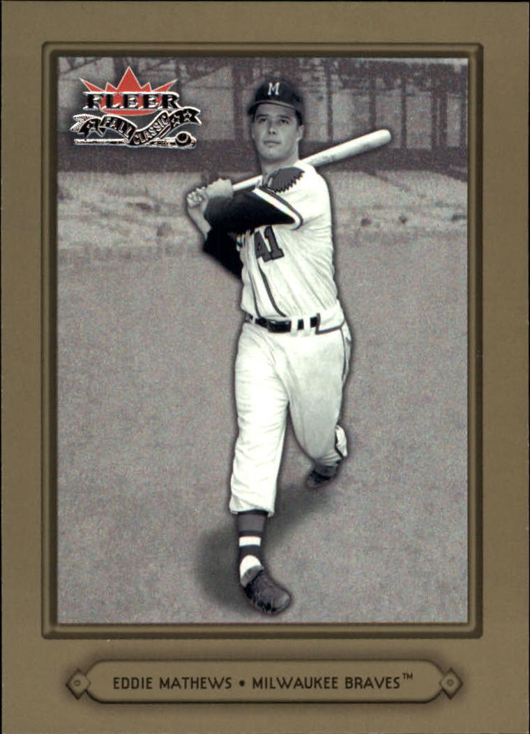 2002 Fleer Fall Classics #41 Eddie Mathews