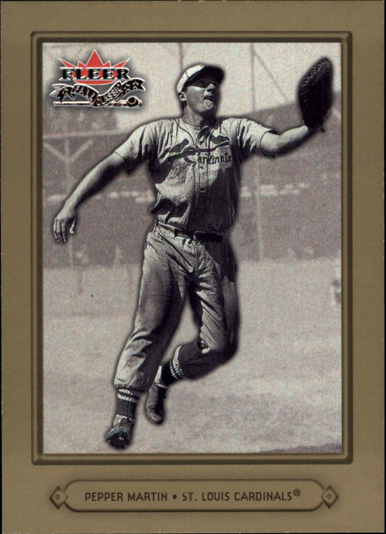 2002 Fleer Fall Classics #80 Pepper Martin front image