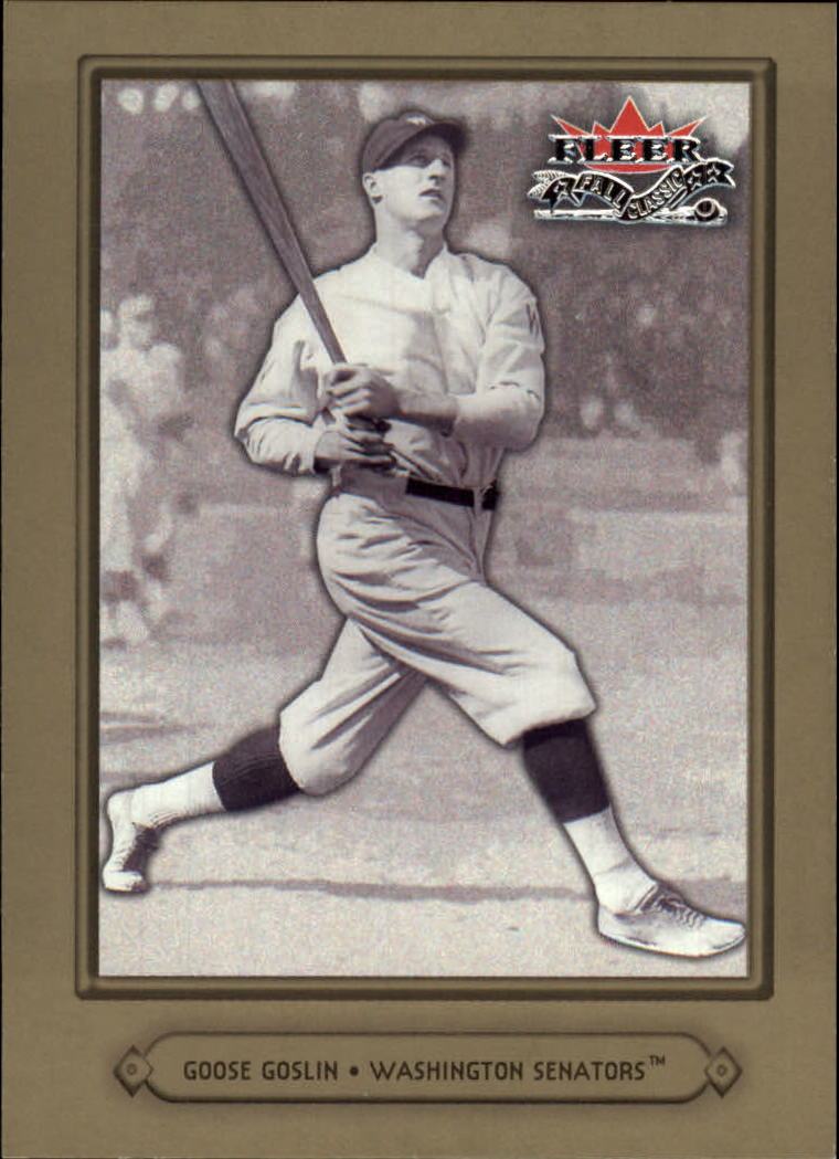 2002 Fleer Fall Classics #87A Goose Goslin Senators
