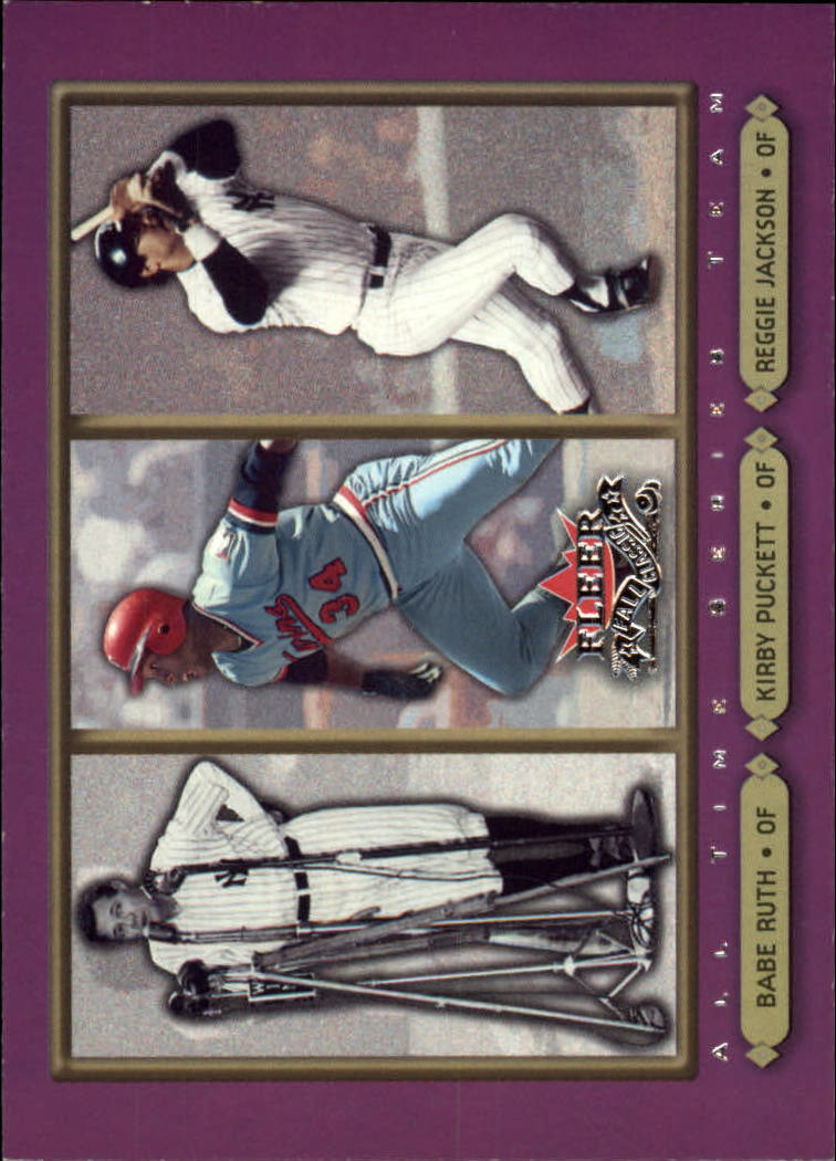 2002 Fleer Fall Classics #97 Ruth/Puckett/Reggie