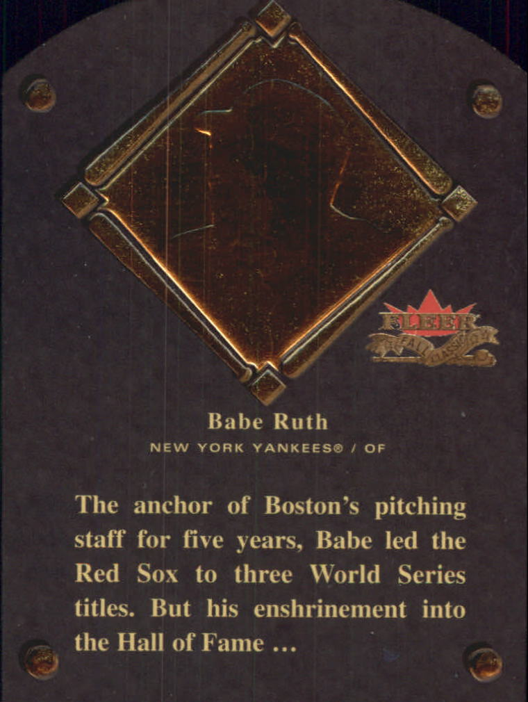 2002 Fleer Fall Classics HOF Plaque #1 Babe Ruth/1936