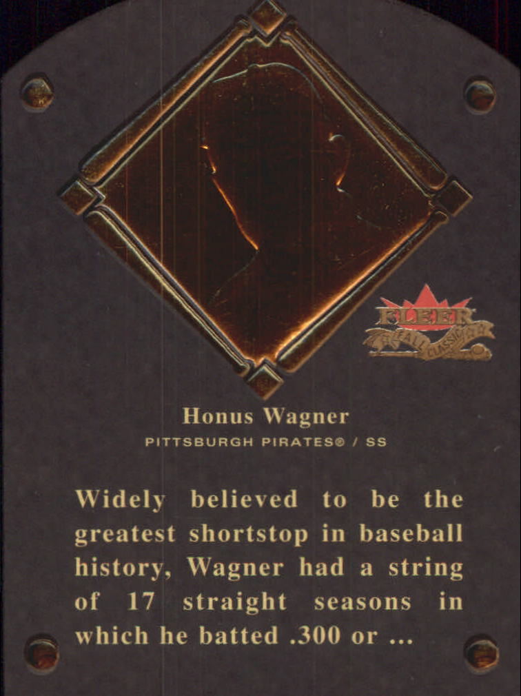 2002 Fleer Fall Classics HOF Plaque #3 Honus Wagner/1936