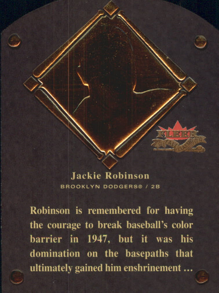 2002 Fleer Fall Classics HOF Plaque #11 Jackie Robinson/1962