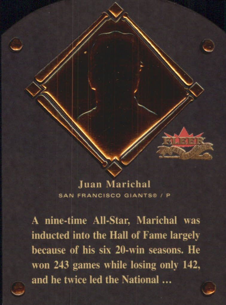 2002 Fleer Fall Classics HOF Plaque #15 Juan Marichal/1983