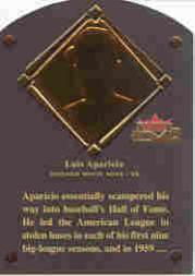 2002 Fleer Fall Classics HOF Plaque #16 Luis Aparicio/1984