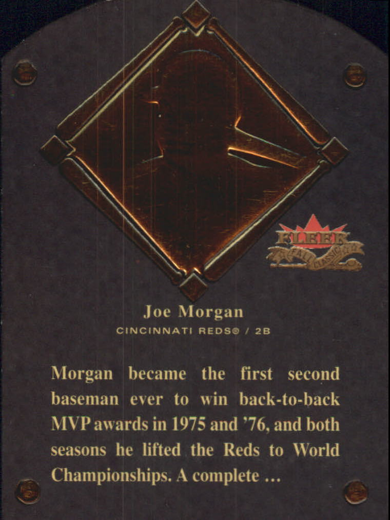 2002 Fleer Fall Classics HOF Plaque #21 Joe Morgan/1990