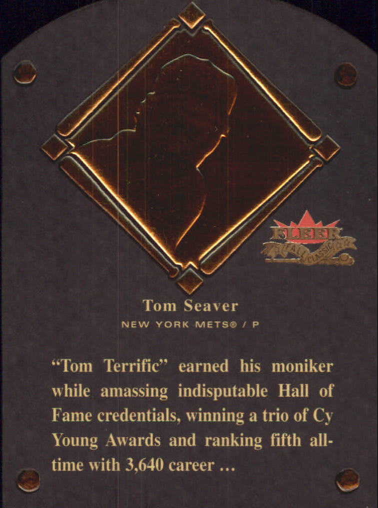 2002 Fleer Fall Classics HOF Plaque #23 Tom Seaver/1992