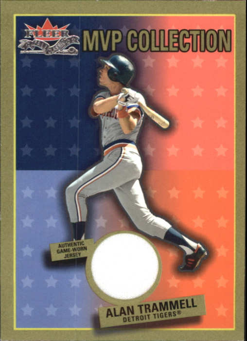 2002 Fleer Fall Classics MVP Collection Game Used #AT Alan Trammell Jsy