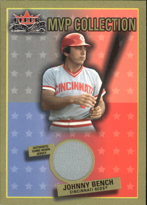 2002 Fleer Fall Classics MVP Collection Game Used #JB Johnny Bench Jsy SP/200