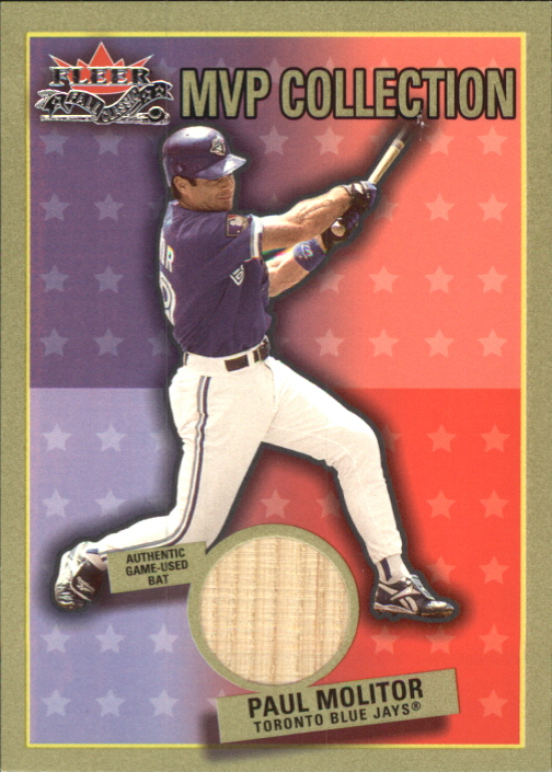 2002 Fleer Fall Classics MVP Collection Game Used #PM Paul Molitor Bat SP/250