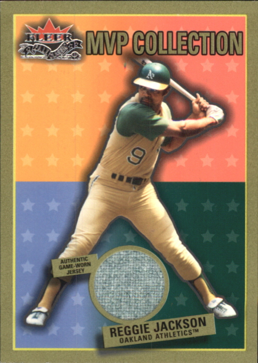 2002 Fleer Fall Classics MVP Collection Game Used #RJOK Reg Jackson A's Jsy SP/50