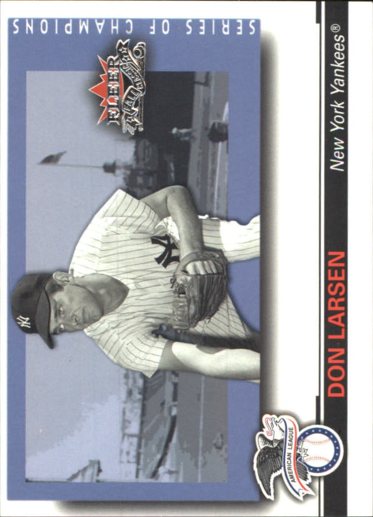 2002 Fleer Fall Classics Series of Champions #8 Don Larsen