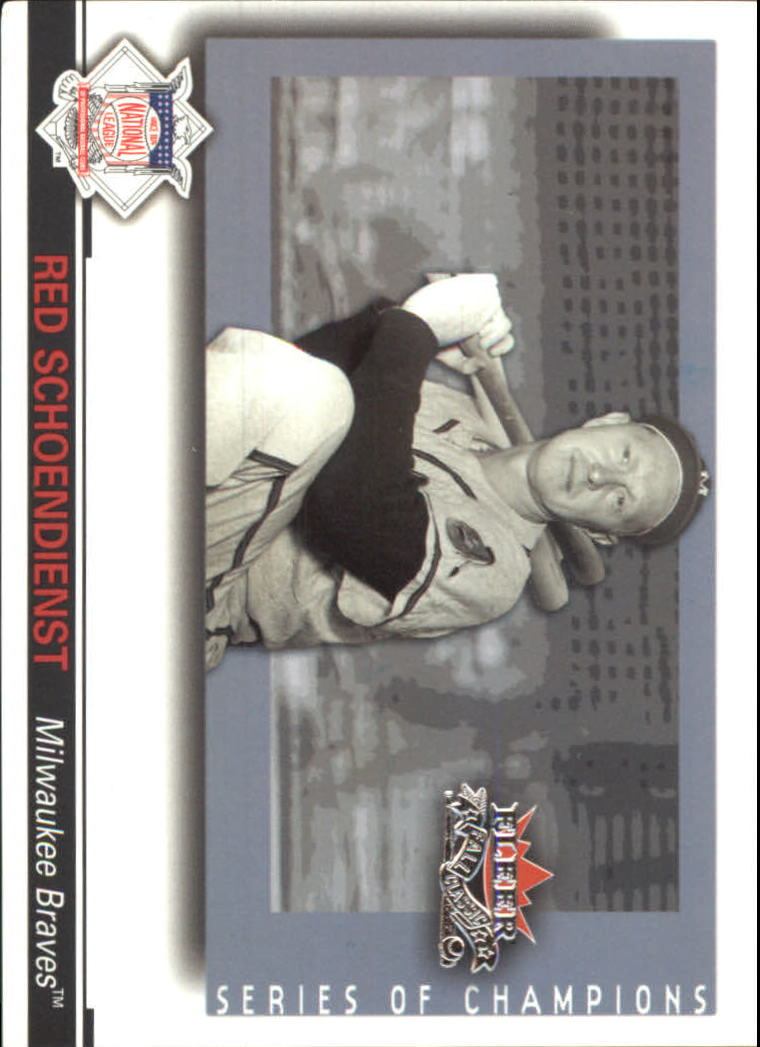 2002 Fleer Fall Classics Series of Champions #15 Red Schoendienst