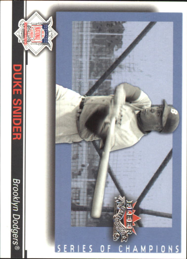 2002 Fleer Fall Classics Series of Champions #16 Duke Snider