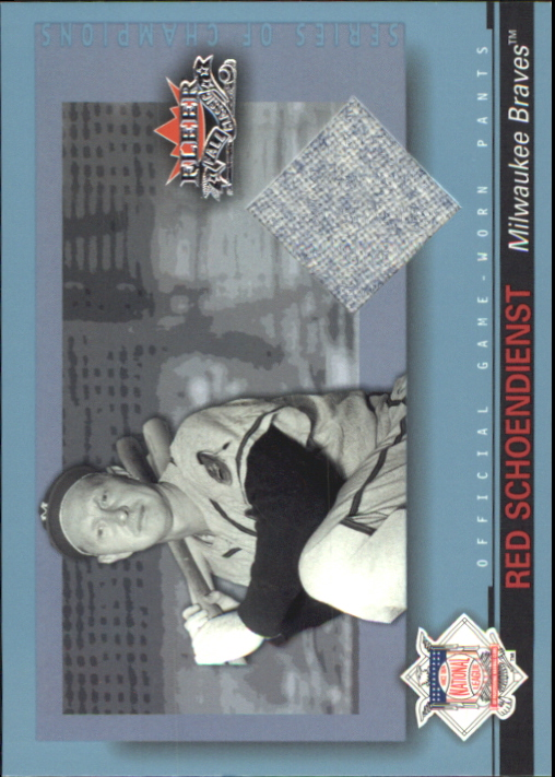 2002 Fleer Fall Classics Series of Champions Game Used #RS Red Schoendienst Pants