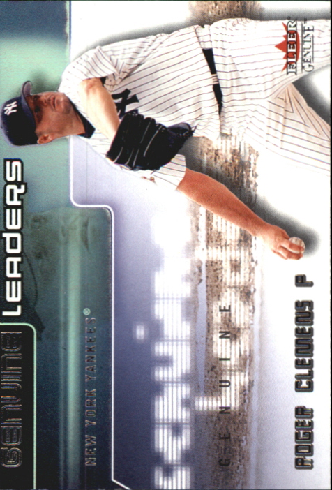 2002 Fleer Genuine Leaders #4 Roger Clemens