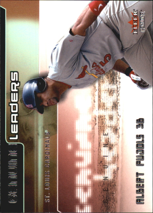 2002 Fleer Genuine Leaders #7 Albert Pujols front image