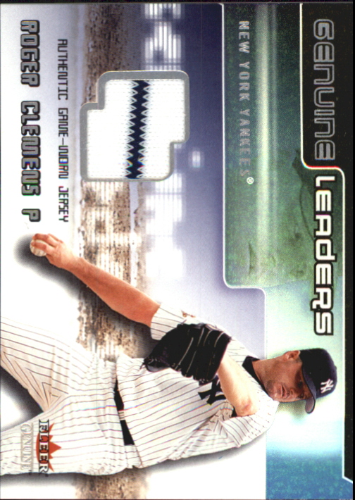2002 Fleer Genuine Leaders Game Jersey #3 Roger Clemens