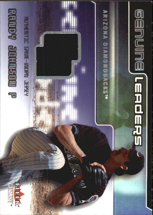 2002 Fleer Genuine Leaders Game Jersey #5 Randy Johnson