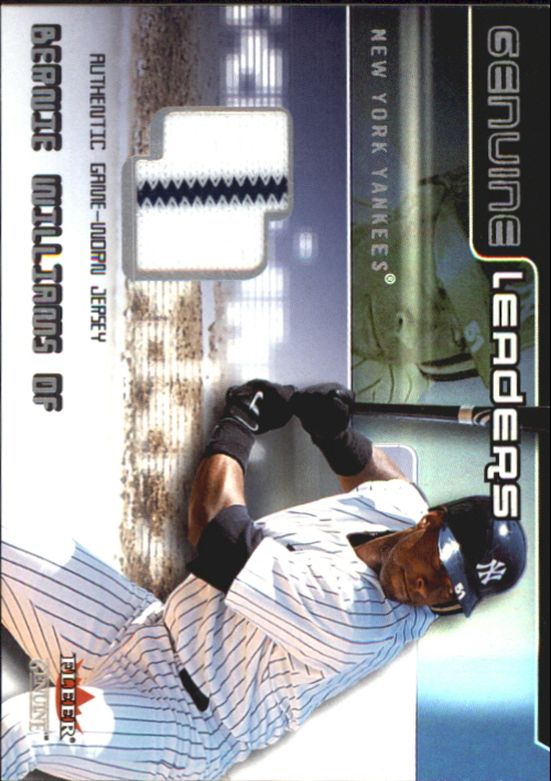 2002 Fleer Genuine Leaders Game Jersey #6 Bernie Williams