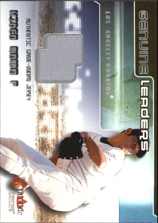 2002 Fleer Genuine Leaders Game Jersey #8 Hideo Nomo