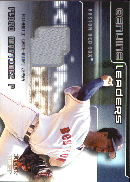 2002 Fleer Genuine Leaders Game Jersey #9 Pedro Martinez
