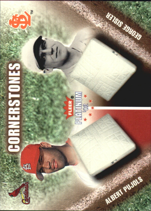 2002 Fleer Platinum Cornerstones Numbered #4 A.Pujols/G.Sisler