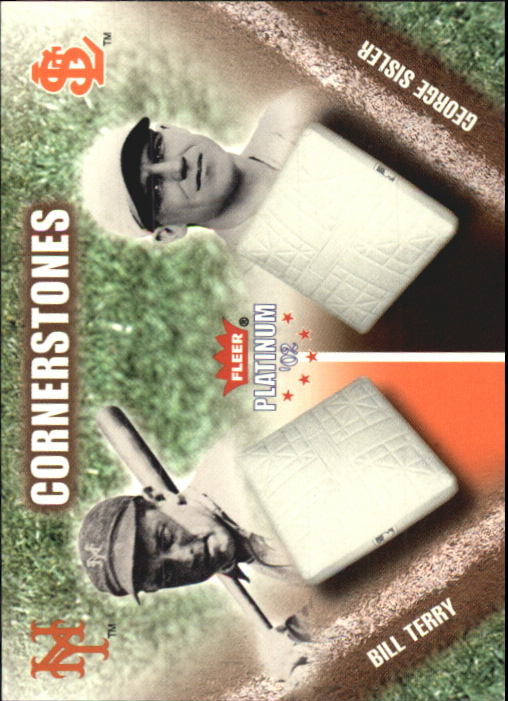 2002 Fleer Platinum Cornerstones Numbered #20 B.Terry/G.Sisler