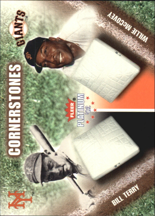 2002 Fleer Platinum Cornerstones Numbered #27 B.Terry/W.McCovey