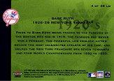 2002 Fleer Premium Legendary Dynasties #4 Babe Ruth back image