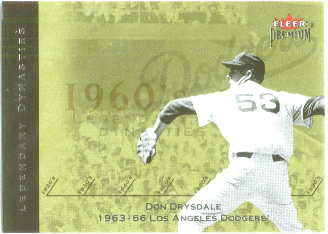 2002 Fleer Premium Legendary Dynasties #18 Don Drysdale