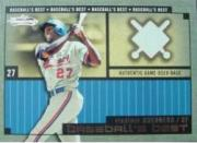 2002 Fleer Showcase Baseball's Best Memorabilia #17 Vladimir Guerrero Base