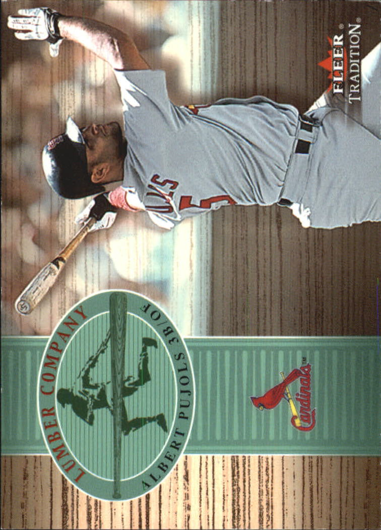 2002 Fleer Tradition Lumber Company #6 Albert Pujols