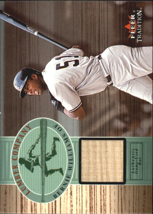 2002 Fleer Tradition Lumber Company Game Bat #30 Bernie Williams
