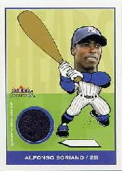 2002 Fleer Tradition Update Heads Up Game Used Caps #10 Alfonso Soriano