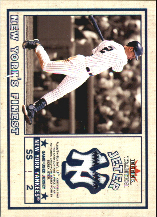 2002 Fleer Tradition Update New York's Finest Single Swatch #1 D.Jeter Jsy/Ordonez