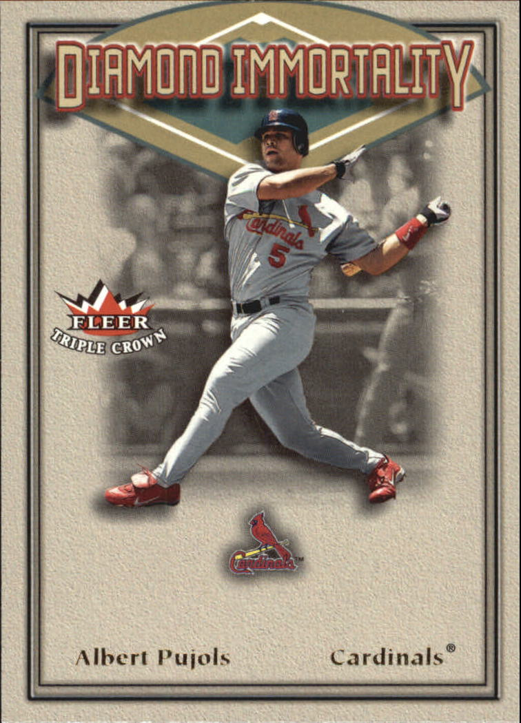 2002 Fleer Triple Crown Diamond Immortality #6 Albert Pujols