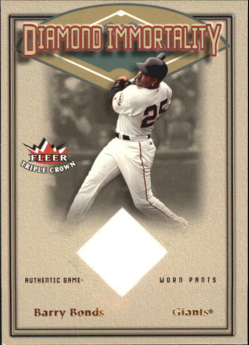 2002 Fleer Triple Crown Diamond Immortality Game Used #1 Barry Bonds Pants