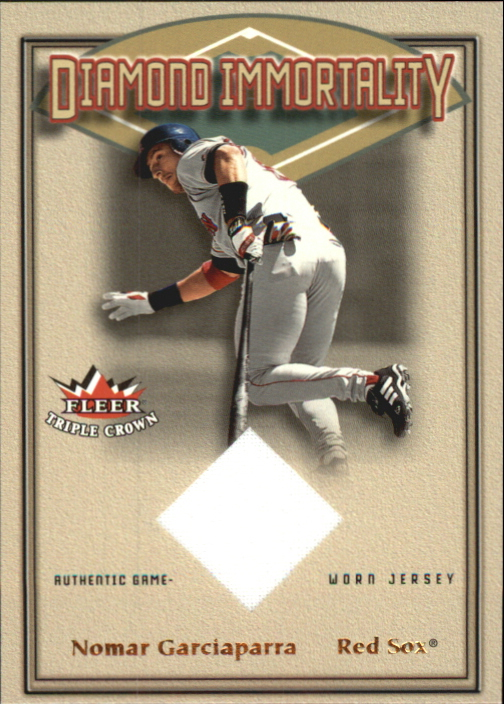 2002 Fleer Triple Crown Diamond Immortality Game Used #3 Nomar Garciaparra Jsy SP/150