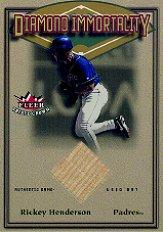 2002 Fleer Triple Crown Diamond Immortality Game Used #4 Rickey Henderson Bat