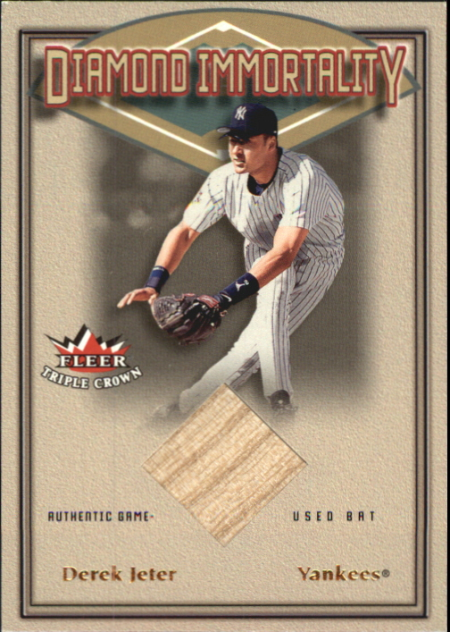 2002 Fleer Triple Crown Diamond Immortality Game Used #5 Derek Jeter Bat