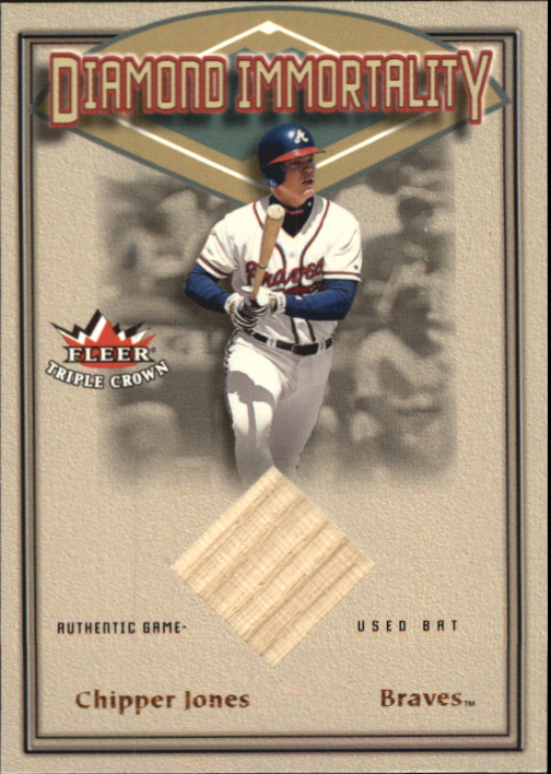 2002 Fleer Triple Crown Diamond Immortality Game Used #6 Chipper Jones Bat