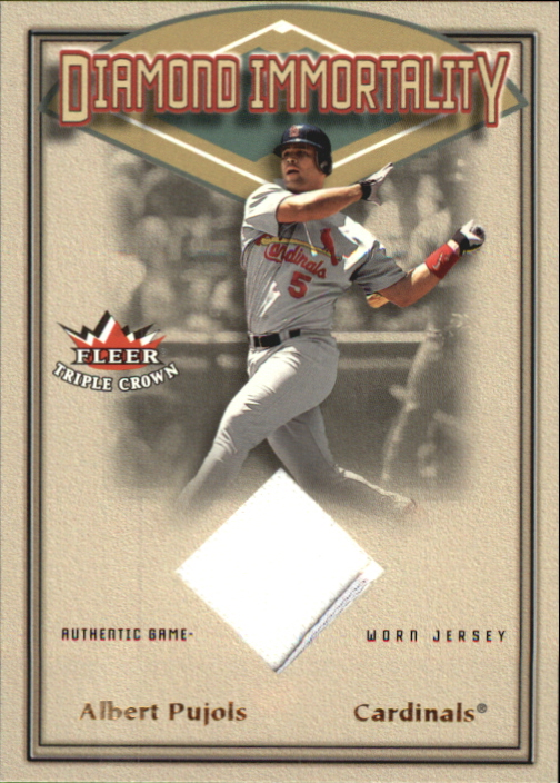 2002 Fleer Triple Crown Diamond Immortality Game Used #7 Albert Pujols Jsy
