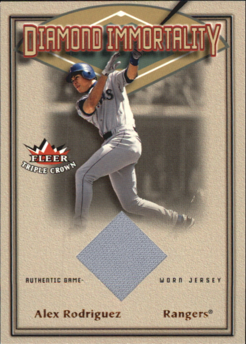 2002 Fleer Triple Crown Diamond Immortality Game Used #8 Alex Rodriguez Jsy SP/400