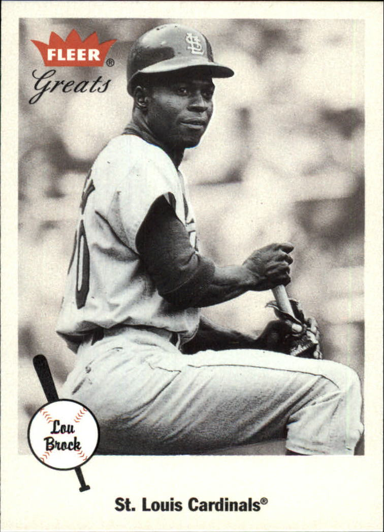 2002 Greats of the Game #6 Lou Brock front image